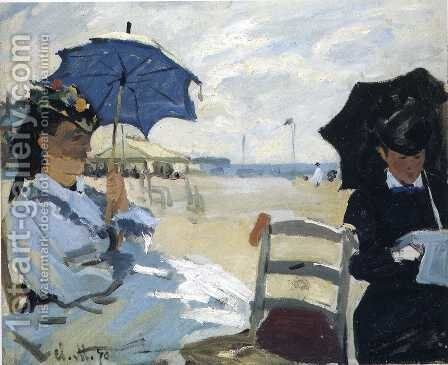 The Beach At Trouville by Claude Oscar Monet - Reproduction Oil Painting