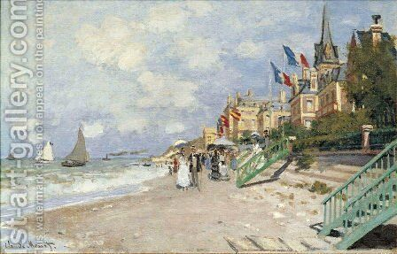The Beach At Trouville2 by Claude Oscar Monet - Reproduction Oil Painting