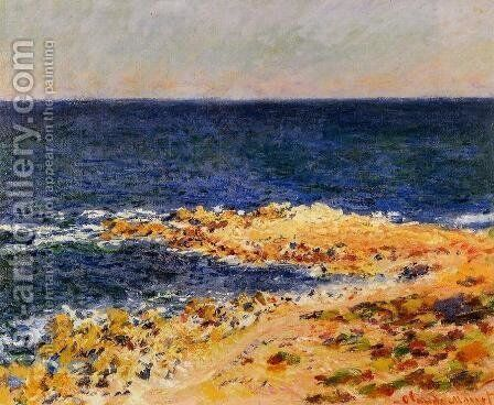 The Big Blue At Antibes Aka The Seat At Antibes by Claude Oscar Monet - Reproduction Oil Painting
