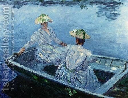 The Blue Row Boat by Claude Oscar Monet - Reproduction Oil Painting