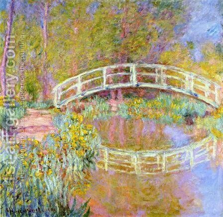 The Bridge In Monets Garden by Claude Oscar Monet - Reproduction Oil Painting