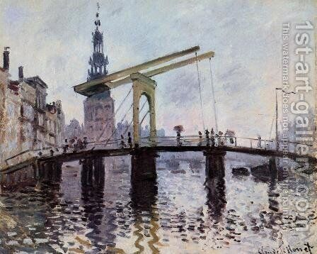 The Bridge  Amsterdam by Claude Oscar Monet - Reproduction Oil Painting