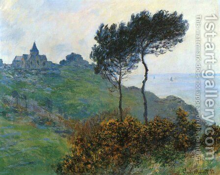 The Church At Varengaville  Grey Weather by Claude Oscar Monet - Reproduction Oil Painting