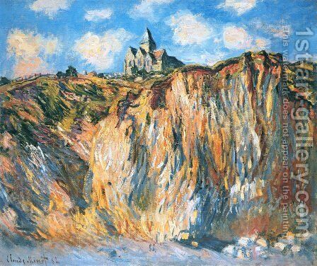 The Church At Varengeville  Morning Effect by Claude Oscar Monet - Reproduction Oil Painting