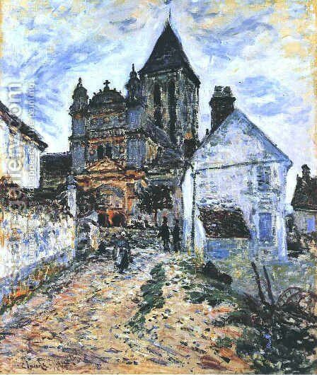 The Church At Vetheuil by Claude Oscar Monet - Reproduction Oil Painting