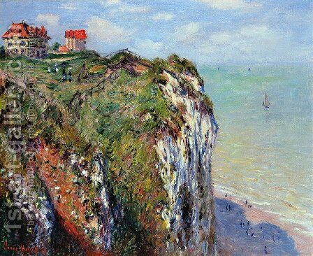 The Cliff At Dieppe by Claude Oscar Monet - Reproduction Oil Painting