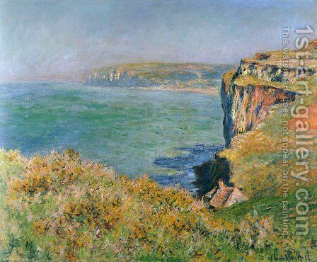 The Cliff At Varengeville by Claude Oscar Monet - Reproduction Oil Painting
