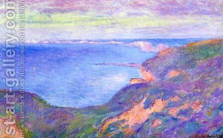 The Cliff Near Dieppe by Claude Oscar Monet - Reproduction Oil Painting