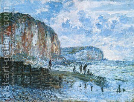 The Cliffs Of Les Petites Dalles by Claude Oscar Monet - Reproduction Oil Painting