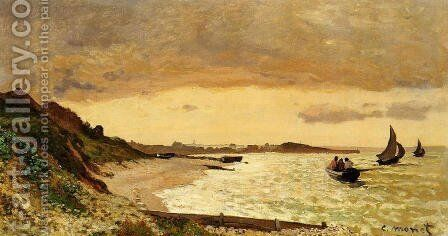 The Coast At Sainte Adresse by Claude Oscar Monet - Reproduction Oil Painting
