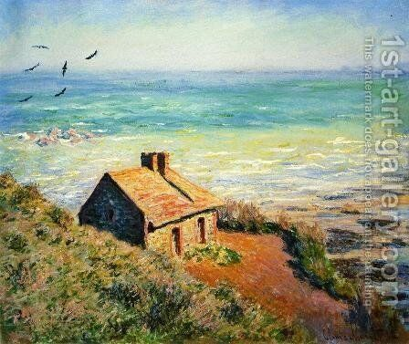 The Costoms House  Morning Effect by Claude Oscar Monet - Reproduction Oil Painting