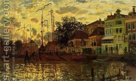 The Dike At Zaandam  Evening by Claude Oscar Monet - Reproduction Oil Painting
