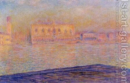 The Doges Palace Seen From San Giorgio Maggiore Aka San Giorgio by Claude Oscar Monet - Reproduction Oil Painting