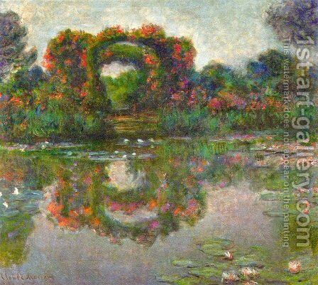 The Flowered Arches At Giverny by Claude Oscar Monet - Reproduction Oil Painting