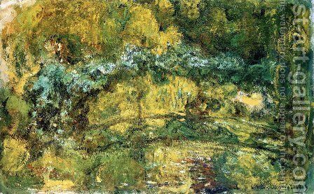The Footbridge Over The Water Lily Pone by Claude Oscar Monet - Reproduction Oil Painting