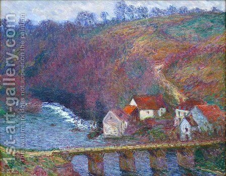 The Grande Creuse By The Bridge At Vervy by Claude Oscar Monet - Reproduction Oil Painting