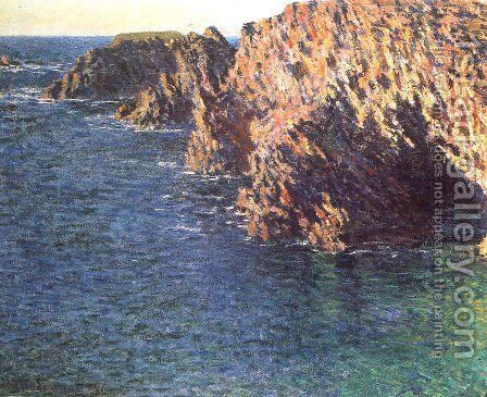 The Grotto Of Port Domois by Claude Oscar Monet - Reproduction Oil Painting