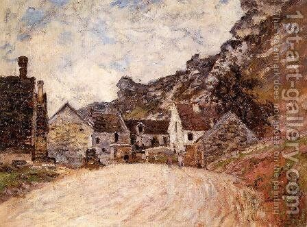 The Hamlet Of Chantemesie At The Foot Of The Rock by Claude Oscar Monet - Reproduction Oil Painting