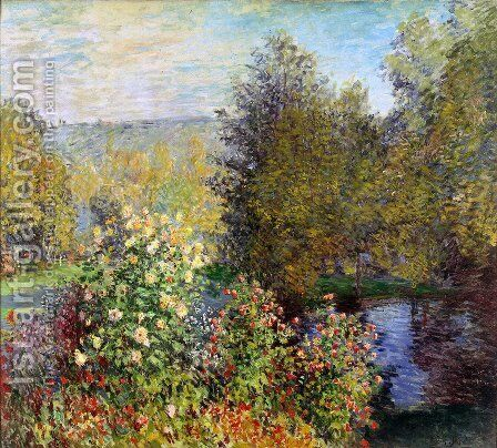 The Hoschedes Garden At Montgeron by Claude Oscar Monet - Reproduction Oil Painting