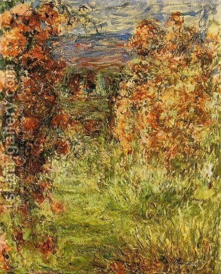 The House Among The Roses by Claude Oscar Monet - Reproduction Oil Painting