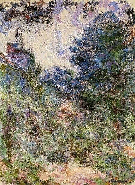 The House Seen From The Rose Garden3 by Claude Oscar Monet - Reproduction Oil Painting