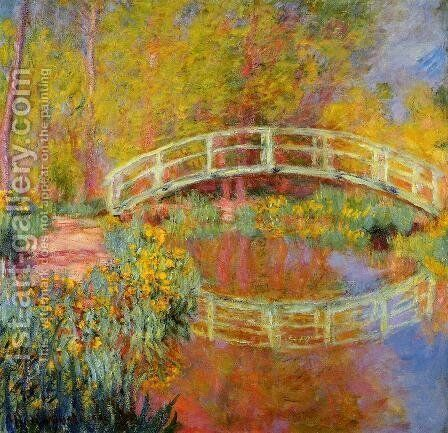 The Japanese Bridge At Giverny2 by Claude Oscar Monet - Reproduction Oil Painting
