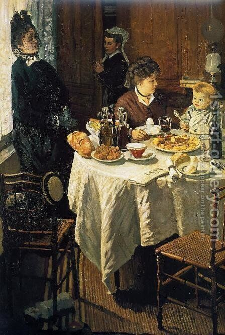 The Luncheon2 by Claude Oscar Monet - Reproduction Oil Painting