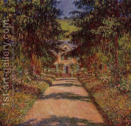 The Main Path At Giverny by Claude Oscar Monet - Reproduction Oil Painting
