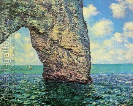 The Manneport At High Tide by Claude Oscar Monet - Reproduction Oil Painting