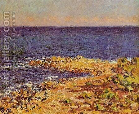 The Meditarranean At Antibes by Claude Oscar Monet - Reproduction Oil Painting