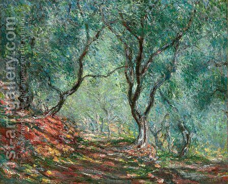 The Olive Tree Wood In The Moreno Garden by Claude Oscar Monet - Reproduction Oil Painting