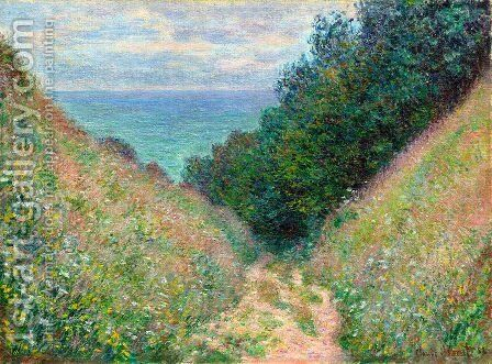 The Path At La Cavee  Pourville by Claude Oscar Monet - Reproduction Oil Painting