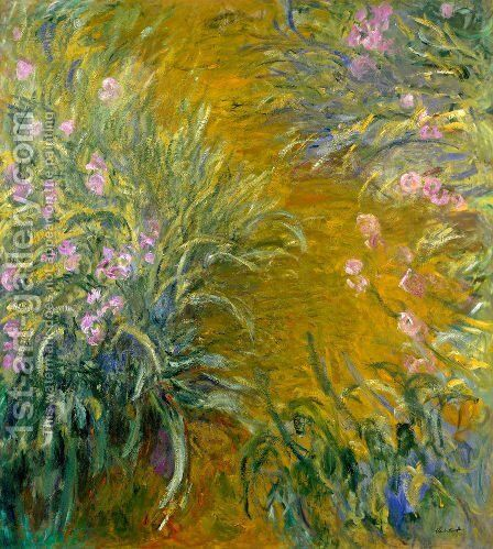 The Path Through The Irises by Claude Oscar Monet - Reproduction Oil Painting