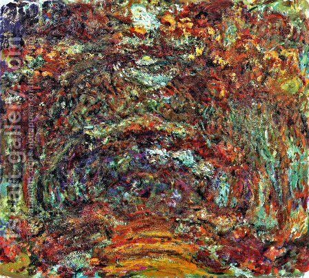 The Path Under The Rose Arches  Giverny by Claude Oscar Monet - Reproduction Oil Painting