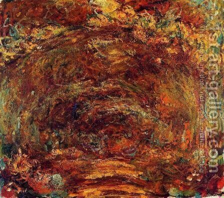 The Path Under The Rose Trellises by Claude Oscar Monet - Reproduction Oil Painting