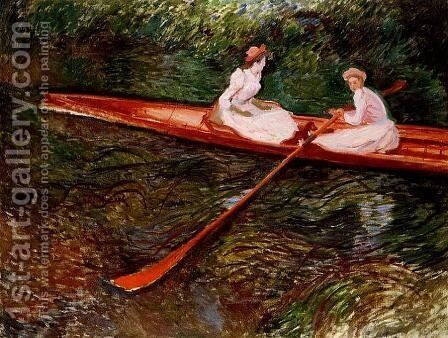 The Pink Skiff by Claude Oscar Monet - Reproduction Oil Painting