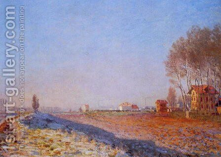 The Plain Of Colombes  White Frost by Claude Oscar Monet - Reproduction Oil Painting