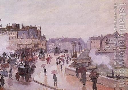 The Pont Neuf by Claude Oscar Monet - Reproduction Oil Painting