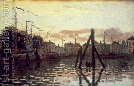 The Port Of Zaandam by Claude Oscar Monet - Reproduction Oil Painting