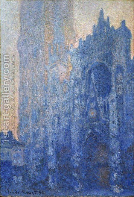 The Portal And The Tour D Albane At Dawn by Claude Oscar Monet - Reproduction Oil Painting