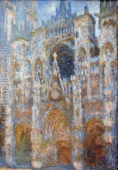 The Portal Of Rouen Cathedral At Midday by Claude Oscar Monet - Reproduction Oil Painting
