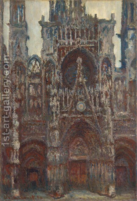 The Portal  Harmony In Brown by Claude Oscar Monet - Reproduction Oil Painting