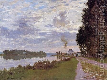 The Promenade At Argenteuil by Claude Oscar Monet - Reproduction Oil Painting