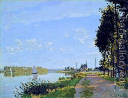 The Promenade At Argenteuil2 by Claude Oscar Monet - Reproduction Oil Painting