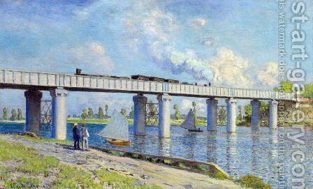 The Railroad Bridge At Argenteuil2 by Claude Oscar Monet - Reproduction Oil Painting