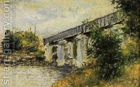 The Railway Bridge At Argenteuil2 by Claude Oscar Monet - Reproduction Oil Painting