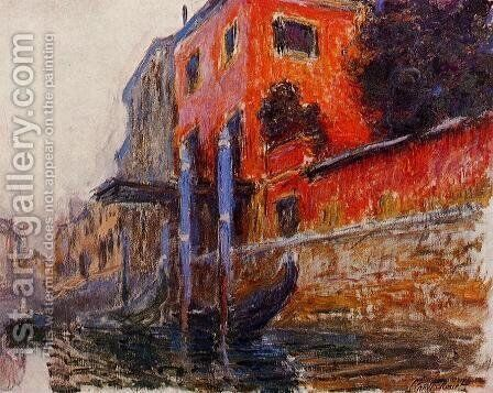 The Red House by Claude Oscar Monet - Reproduction Oil Painting