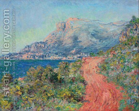 The Red Road Near Menton by Claude Oscar Monet - Reproduction Oil Painting