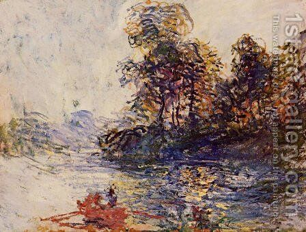 The River by Claude Oscar Monet - Reproduction Oil Painting