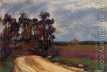 The Road And The House by Claude Oscar Monet - Reproduction Oil Painting